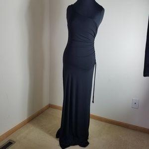 City Triangles Sexy Black Dress With Side Split